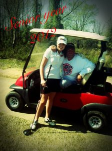 Dad and Audie golf